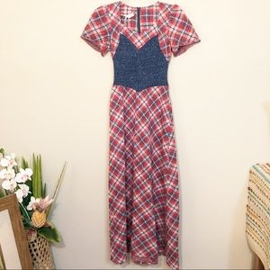 VTG | Western style plaid dress